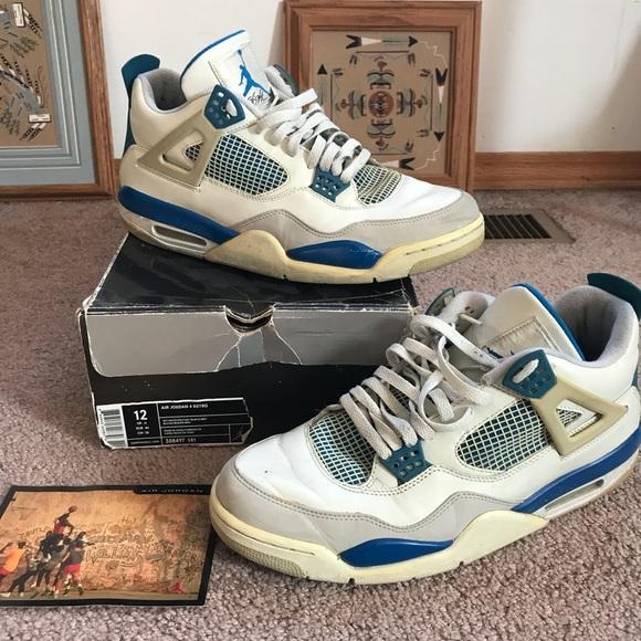 huge selection of 05683 34a0b Jordan 4 Military Blue/White sz 12 2006 release